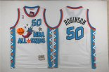 Camisetas NBA de David Robinson All Star 1996 Blanco