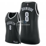 Camisetas NBA Mujer Spencer Dinwiddie Brooklyn Nets Negro Icon