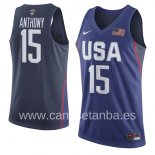 Camisetas NBA de Carmelo Anthony USA 2016 Azul