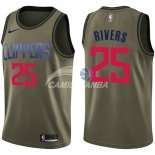 Camisetas NBA Salute To Servicio Los Angeles Clippers Austin Rivers Nike Ejercito Verde 2018