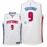 Camiseta NBA Ninos Detroit Pistons Langston Galloway Blanco Association 2018